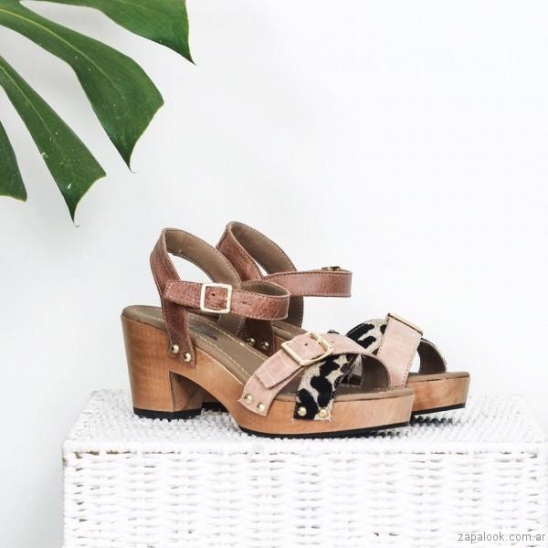 sandalias con hebillas base de madera verano 2017 priscila bella