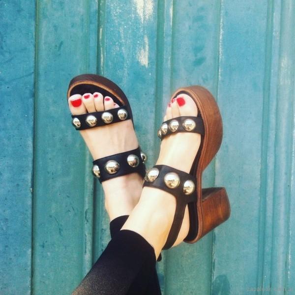 sandalias negras con tachas verano 2017 sibyl vane