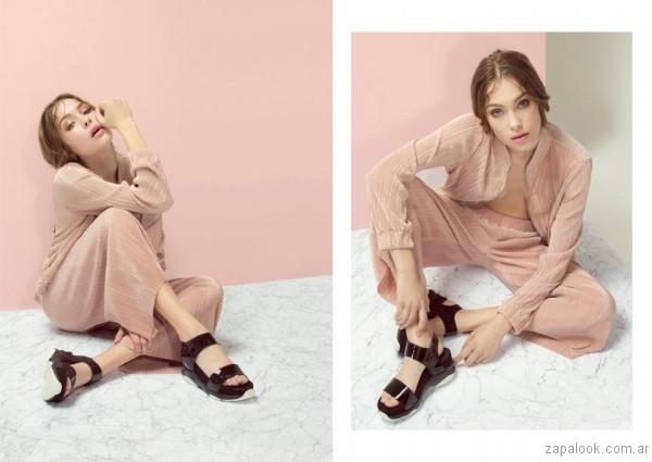 sandalias negras de charol verano 2017 sibyl vane