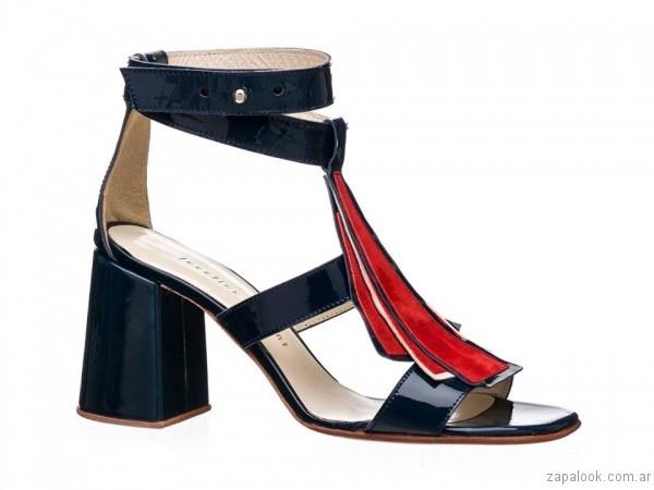 sandalias negras y rojas josefina ferroni verano 2017