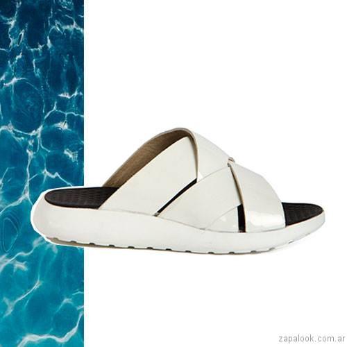 sandalias planas blancas verano 2017 donne