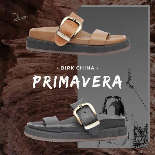 sandalias planas con hebillas rauch zapatos coleccion primavera verano 2017