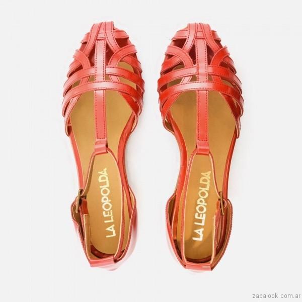 sandalias rojas calzado la leopolda verano 2017