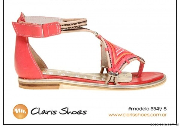 sandalias rojas verano 2017 claris shoes