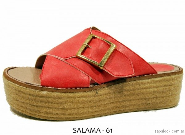 sandalias tiras anchas con base de yute verano 2017 nadia bs as