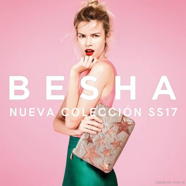 sobres de fiesta tonos metalizados verano 2017 besha