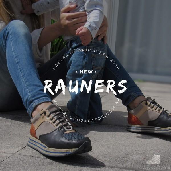 zapatillas de cuero urbanas rauch zapatos coleccion primavera verano 2017
