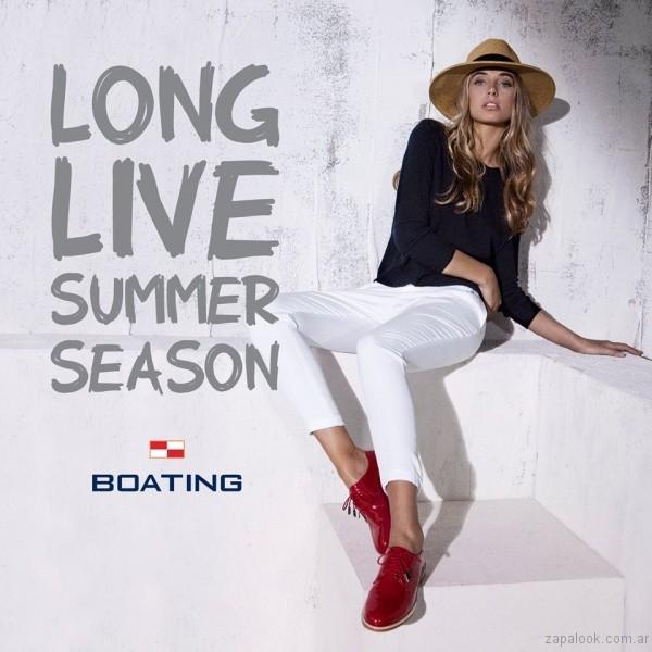 zapatos abotinados boating mujer verano 2017