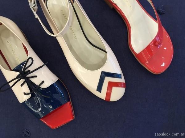 zapatos azules rojos y crudo josefina ferroni verano 2017