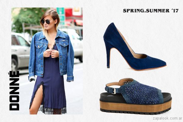 zapatos azules verano 2017 donne