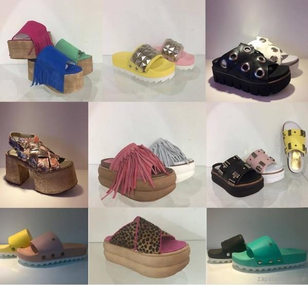 sandalais de moda urbanas verano 2017 orange fashion shoes