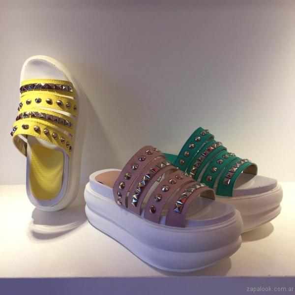 sandalias con plataformas verano 2017 orange fashion shoes