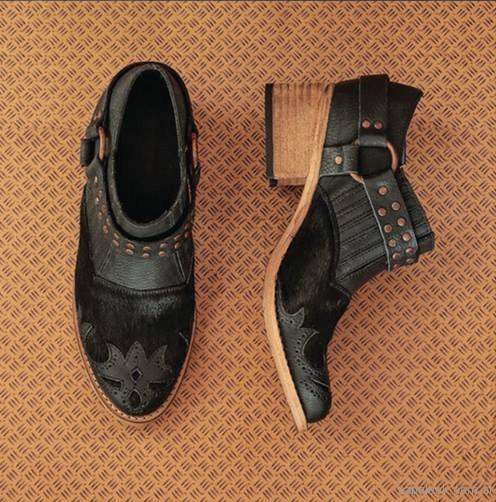 botas texana con pelo sintetico negras clara barcelo