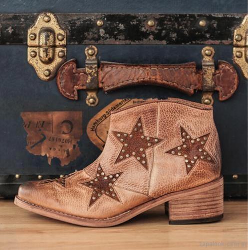 botas texanas color suela con estrellas invierno 2017 clara barcelo