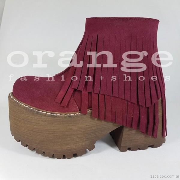 botinetas bordo - Orange fashion shoes otoño invierno 2017