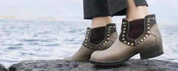 botinetas marrones invierno 2017 - Viamo calzados