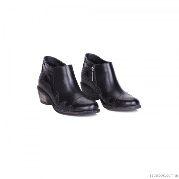 botinetas negras texanas invierno 2017 - Viamo calzados