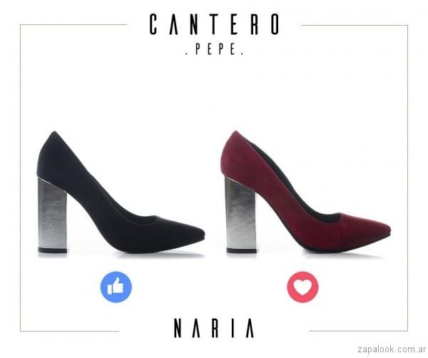 stilettas taco ancho otoño invierno 2017 - Pepe Cantero