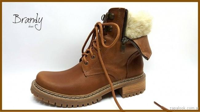Borcego con piel de cordero - zapatos Brandy invierno 2017