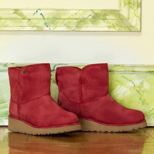 Bota urbana roja invierno 2017 - Lady Stork