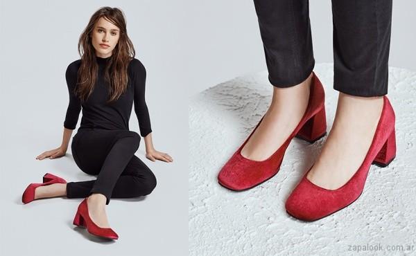 Zapatos rojos gamuza otoño invierno 2017 - Lucerna Fans
