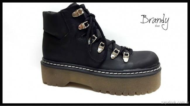 borcego negro - zapatos Brandy invierno 2017