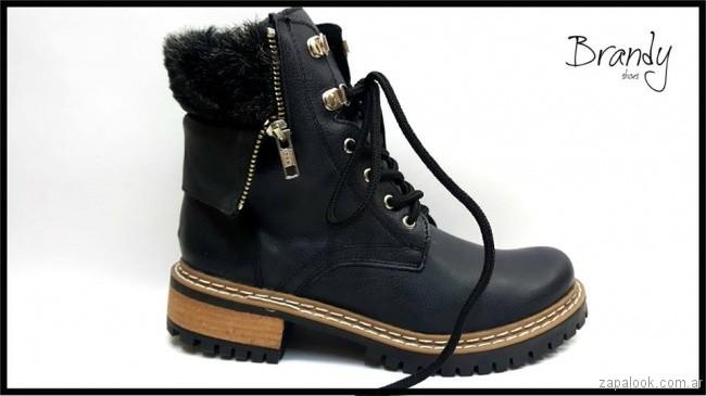 borcego piel sintetica - zapatos Brandy invierno 2017