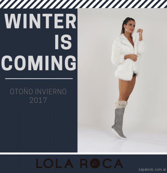 botas grises caña alta otoño invierno 2017 - Lola Roca