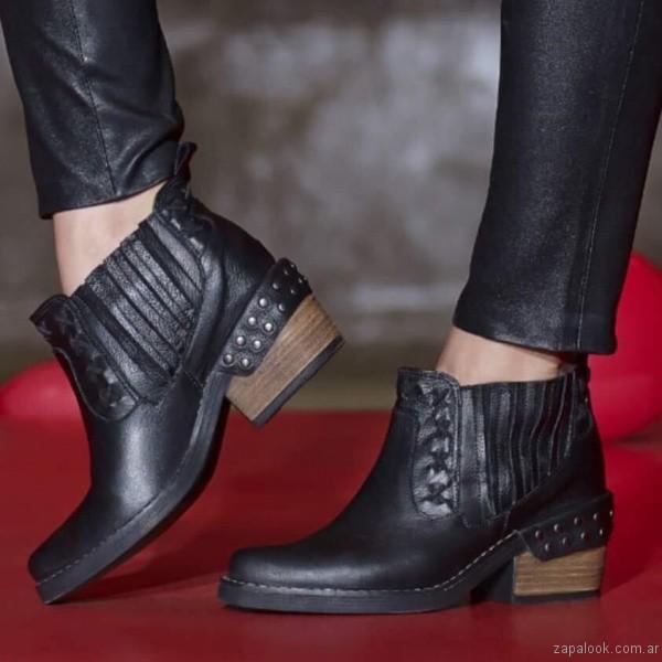 botas negras texanas otoño invierno 2017 - Heyas