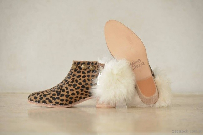 botinetas animal print Miki and Choya invierno 2017