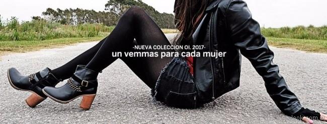 botinetas negras taco madera Vemmas invierno 2017