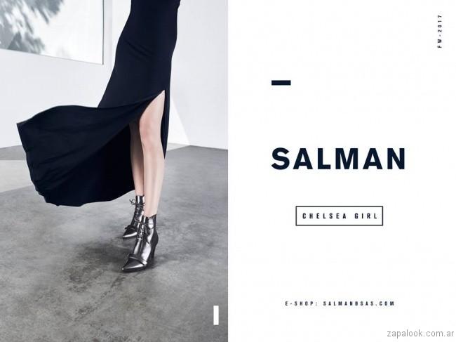 botinetas plateadas otoño inierno 2017 - Salman