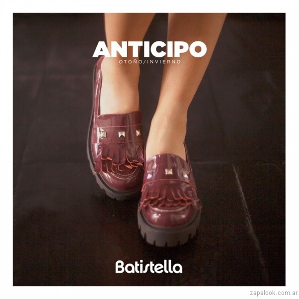 mocasines bordo invierno 2017 - Batistella