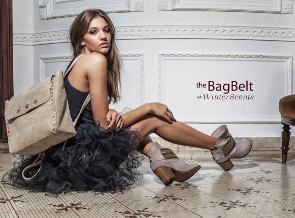 mochila y cartera gamuzada The Bag Belt invierno 2017