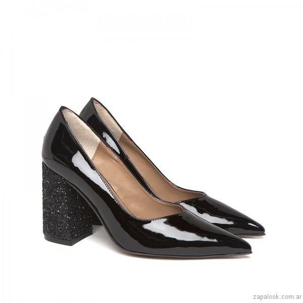 b4525d115e1 Zapatos de charol punta redonda invierno paruolo stiletos taco grueso  invierno paruolo charol punta jpg 600x600
