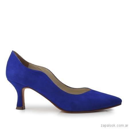stilettos azules invierno 2017 - Ferraro calzados