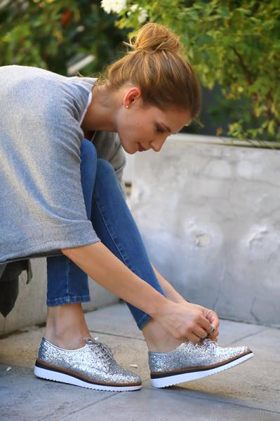 zapatillas metalizadas invierno 2017 - Via Uno