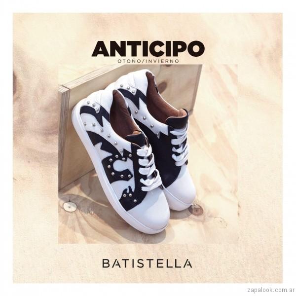 zapatillas negro y blanco invierno 2017 - Batistella