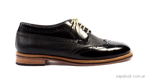 zapato abotinado negro otoño invierno 2017 Tosone