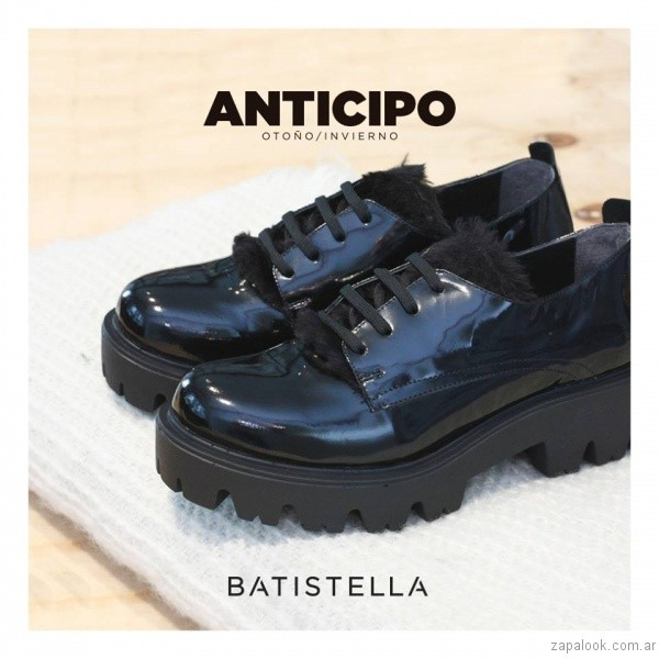 zapato abotinados de charol invierno 2017 - Batistella