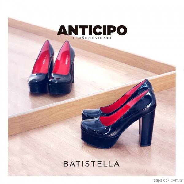zapato altos de charol invierno 2017 - Batistella