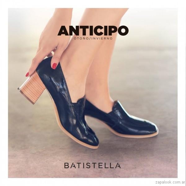 zapatos con taco grueso invierno 2017 - Batistella