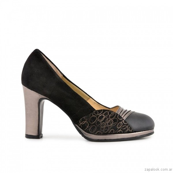 zapatos negros y plateados invierno 2017 - Valerio