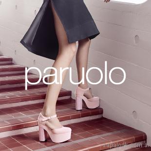zapatos rosados de fiesta invierno 2017 - Paruolo