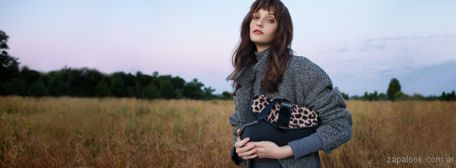 Cartera animal print invierno 2017 - Lazaro