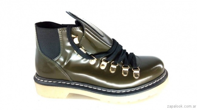 borcego estilo militar otoño invierno 2017 - Magali Shoes