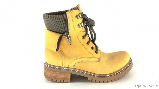 borcegos amarillos otoño invierno 2017 - Magali Shoes