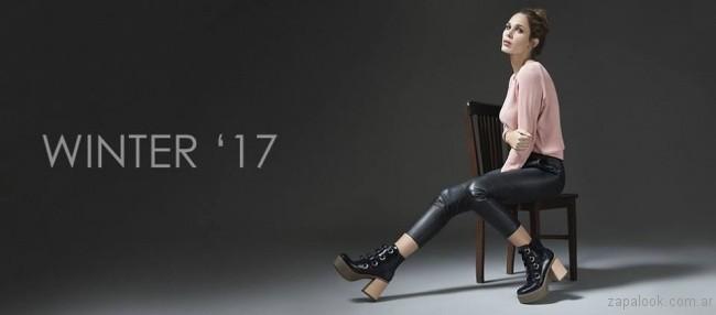 bota negro invierno 2017 Lady Comfort