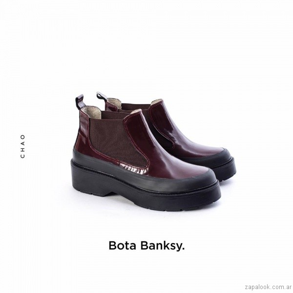 botineta de charol invierno 2017 - Chao Shoes