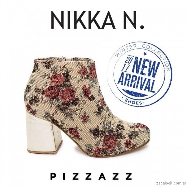 botineta estampada inierno 2017 Nikka N. by Nicole Neumann